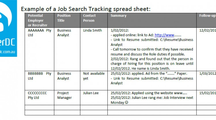 How to track your internship search