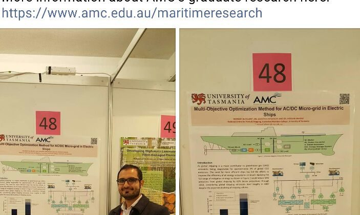 Congratulations to Monaaf Al-Falahi for his 'Best Poster' award at the University of Tasmania 2016 Graduate Research Conference